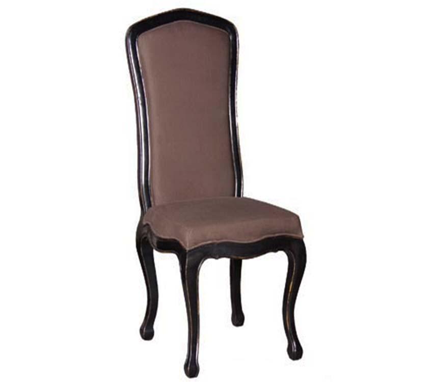 Belle Noir Chair Black Distressed
