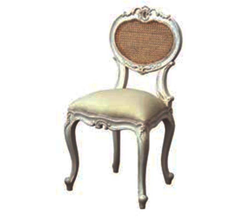 Chateau Bedroom Chair White Distressed