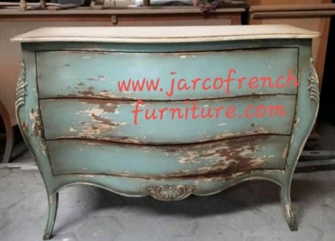 French Chest of Drawers Carving