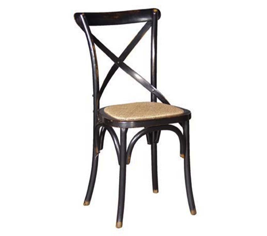 Noir Black Cross Dining Chair