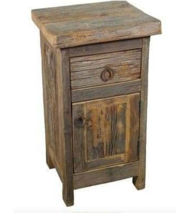 Rustic Night Stand 1 Drawer