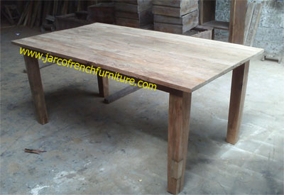 Rough Dining Table Straight Legs
