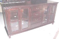 Buffet Bevel Glass 4 Drawers