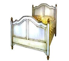 HB VII Bed 4'/5'/6' feet White Distressed,