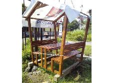 Cafe Bench Gazebo