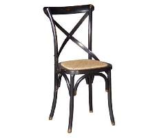 Noir Black Cross Dining Chair