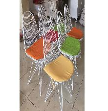Iron Chair with Color Cushion