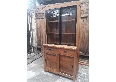 Lawyer Cabinet with Iron 2 Bevel glass Doors