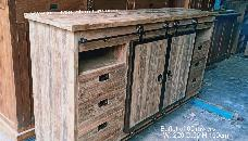 Rustic Buffet 6 Drawers with 4cm Thick Top