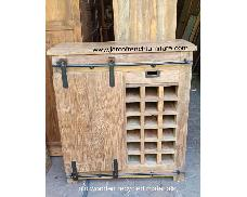 Rustic Rack Wine Cabinet with 4cm Thick Top