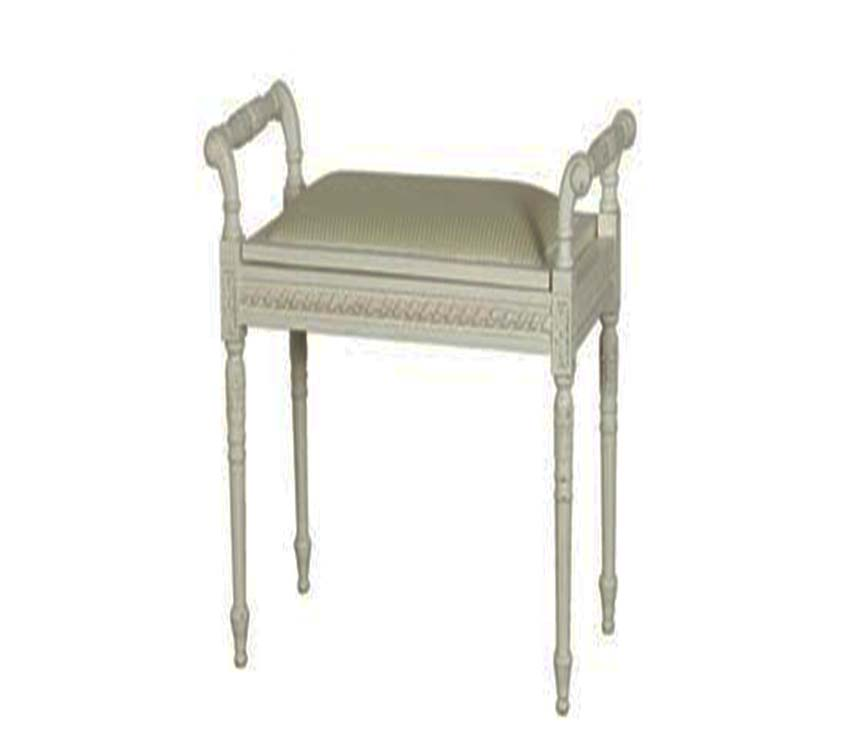 Chateau Widya Stool White Distressed